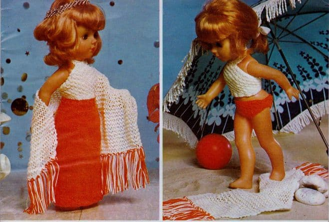 PDF Digital Download Vintage Knitting Pattern Doll Clothes 18'' Baby Doll Toy Toys