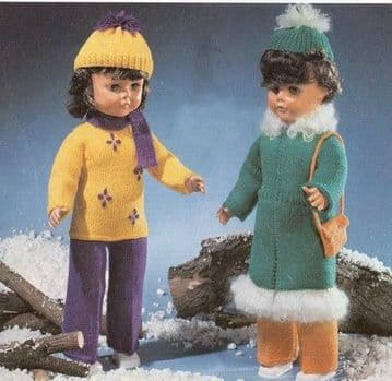 PDF Digital Download Vintage Knitting Pattern Doll Clothes 20'' Baby Dolls Toys