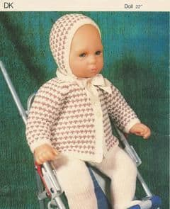 PDF Digital Download Vintage Knitting Pattern Doll Clothes 22'' Baby Dolls Toy Toys