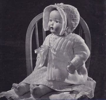 PDF Digital Download Vintage Knitting Pattern Doll Clothes Baby Doll Toy Dolls Toys