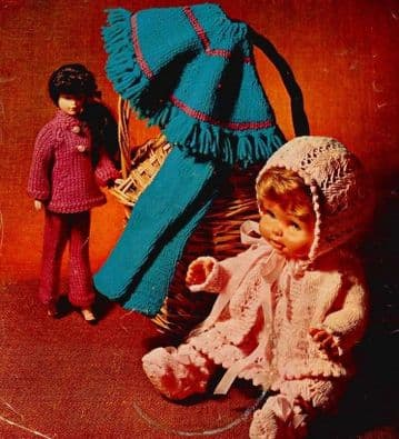 PDF Digital Download Vintage Knitting Pattern Doll Clothes Baby Teen Dolls 12'' 14'' 16'' Barbie