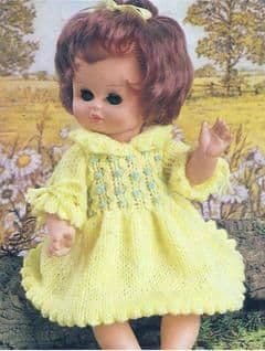 PDF Digital Download Vintage Knitting Pattern Doll Clothes DK 9-16'' Dolls Toy Toys