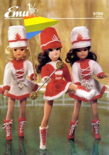 PDF Digital Download Vintage Knitting Pattern Doll Clothes MAJORETTE Outfits Teenage Dolls Toys