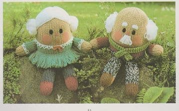 PDF Digital Download Vintage Knitting Pattern Dressed Doll Family Soft Toy Dolls Toys