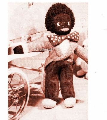 PDF Digital Download Vintage Knitting Pattern Golly Doll 17'' Toy Stuffed Soft Body Toys Dolls
