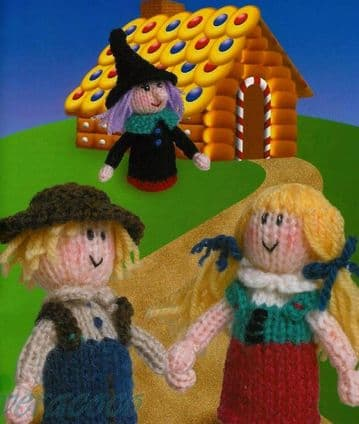 PDF Digital Download Vintage Knitting Pattern Hanse Gretel Witch Doll Stuffed Soft Toy Toys Dolls