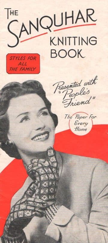 PDF Digital Download Vintage Knitting Pattern Ladies Peoples Friend  Fair Isle Sanquhar Gloves Scarf