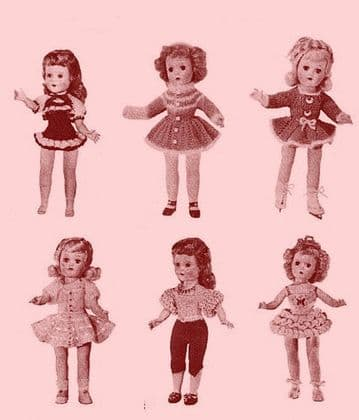 PDF Digital Download Vintage Knitting Pattern McCalls 461 Doll Clothes Betsy McCall & Toni Toys