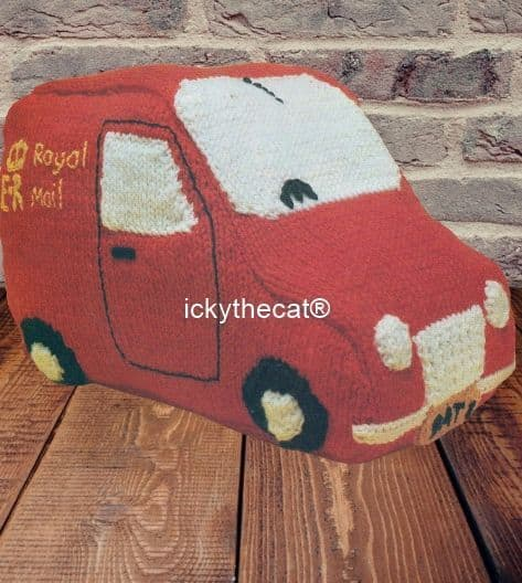 PDF Digital Download  Vintage Knitting Pattern Postman Van Stuffed Soft Toy