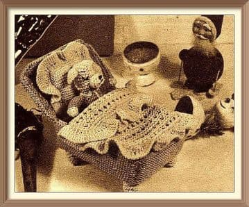 PDF Digital Download Vintage Knitting Pattern Soft Toy Puppy Dog & His Little Bed Animal Toys