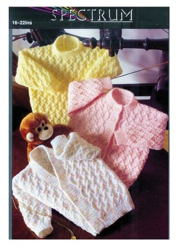 PDF Digital Download Vintage Knitting Pattern Spectrum Baby Sweaters and Cardigans 16-22 inches