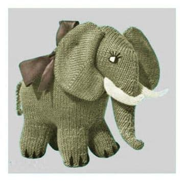 PDF Digital Download Vintage Knitting Pattern Stuffed Soft Toy Animal Elephant 9-10'' Toys