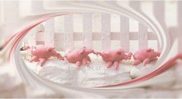 PDF Digital Download Vintage Knitting Pattern Stuffed Soft Toy Pigs Piglets Pram Cradle Toy Animals