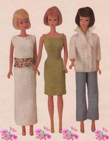 PDF Digital Download Vintage Knitting Pattern Teenage Doll Clothes Fashion Dolls Sindy Barbie Toys