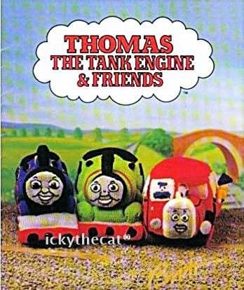 PDF Digital Download Vintage Knitting Pattern Thomas The Tank Engine & Friends Trains People Toys