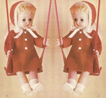 PDF Digital Download Vintage Knitting Pattern Toddler Toy Doll Clothes ​​​​​​15-17'' Dolls Toys