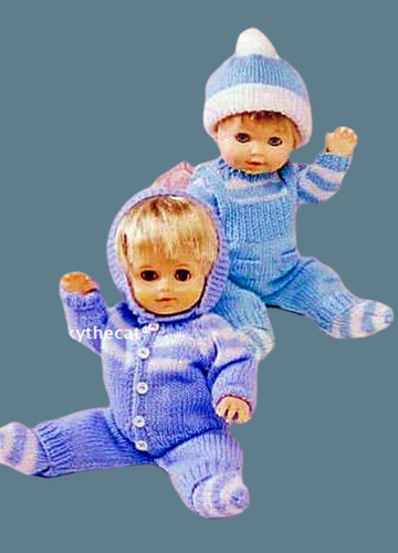 PDF Digital Download Vintage Knitting Pattern Toy Doll Clothes 12 -14''  15-18'' Baby Dolls Toys