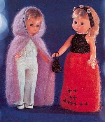 PDF Digital Download Vintage Knitting Pattern Toy Doll Clothes 18'' Dolls Toys