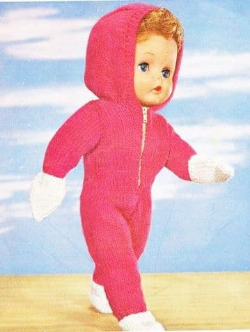 PDF Digital Download Vintage Knitting Pattern Toy Doll Clothes Baby Doll 16'' Toys