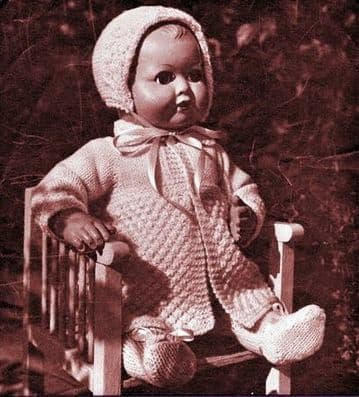 PDF Digital Download Vintage Knitting Pattern Toy Doll Clothes Baby Dolls 14'' Toys