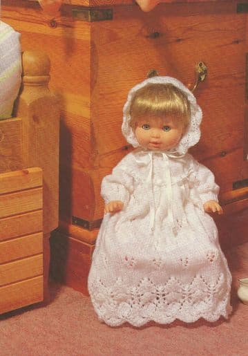 PDF Digital Download Vintage Knitting Pattern Toy Doll Layette 15-18'' Dolls Toys