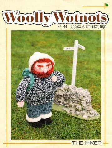 PDF Digital Download Vintage Knitting Pattern Woolly Wotnots 12'' ​​​​​​​The Hiker Doll