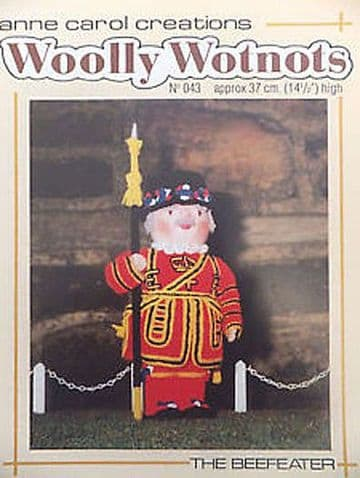 PDF Digital Download Vintage Knitting Pattern WoollyWotnots Beefeater Soldier Rag Doll Toy Toys