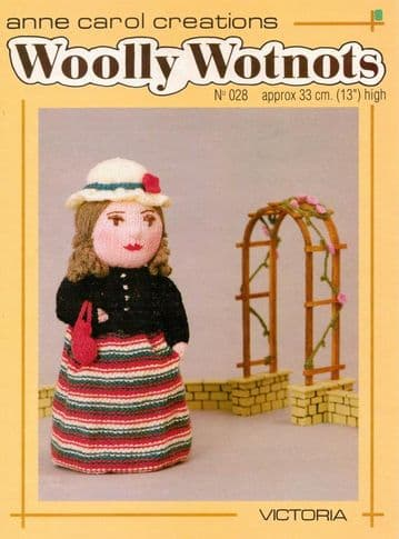 PDF Digital Download Vintage Knitting Pattern Woolly Wotnots  ​​​​Victoria Stuffed Soft Toy Doll