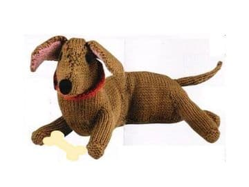PDF Digital Download Vintage Knitting Plush Soft Body Toy Dachshund Sausage Dog 40 cm Toys