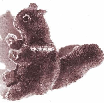 PDF Digital Download Vintage Sewing & Knitting Pattern Sculpture Squirrel Stuffed Plush Soft Toy