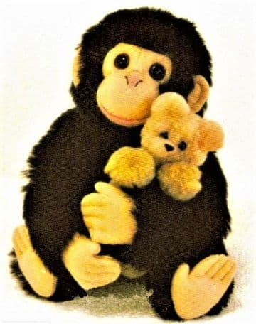 PDF Digital Download Vintage Sewing Pattern 10'' Monkey Chimp & Teddy Bear Soft Plush Toy Animal