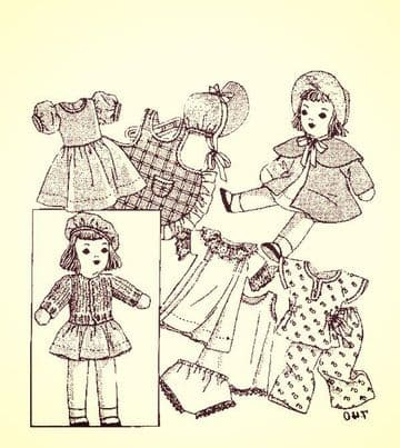 "PDF Digital Download Vintage Sewing Pattern 12"" Mail Order Doll + Clothes Stuffed Soft Body Toy Doll"