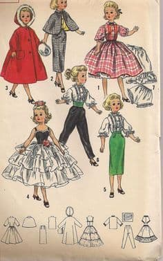 PDF Digital Download Vintage Sewing Pattern 14'' Doll Clothes Miss Revlon Dolls Toys