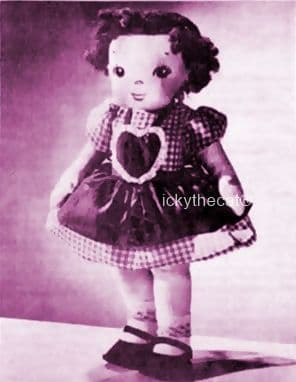 PDF Digital Download Vintage Sewing Pattern 15-16'' Doll & Clothes Stuffed Soft Body Doll Toy