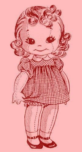 PDF Digital Download Vintage Sewing Pattern 15'' Stuffed Soft Body Cloth Doll with Clothes