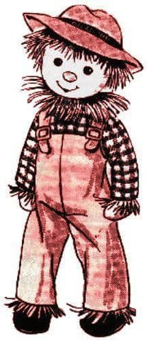 PDF Digital Download Vintage Sewing Pattern 22'' Scarecrow Stuffed Soft Body Doll Toy