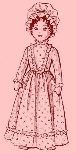 PDF Digital Download Vintage Sewing Pattern  22'' Victorian Doll Stuffed Soft Body Cloth Doll Toy