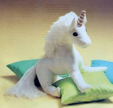 PDF Digital Download Vintage Sewing Pattern 3 Stuffed  FULL SIZE Plush Soft Toy Unicorn Pony