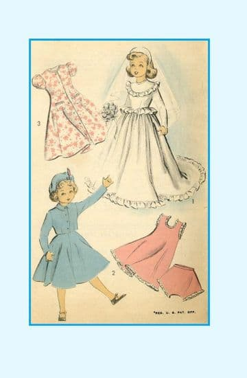 "PDF Digital Download Vintage Sewing Pattern 5002 Doll Clothes 21"" Revlon Cissy Toni Dolls Clothing"