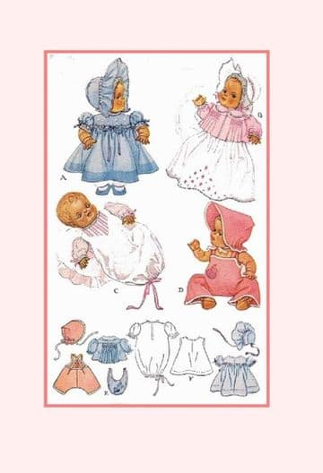"PDF Digital Download Vintage Sewing Pattern 713 Doll Clothes 15"" Dy Dee Betsy Wetsy Dolls Toys"