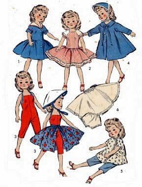 "PDF DIGITAL Download Vintage SEWING PATTERN 8814 Doll Clothes pattern  10 1/2"" Ideal Vogue dolls"