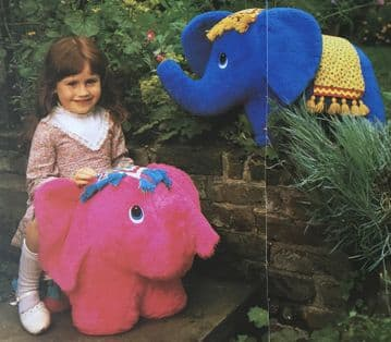 PDF Digital Download Vintage Sewing Pattern A Sit On Ride On Giddy Up Elephant 27 x 18'' Plush Toy