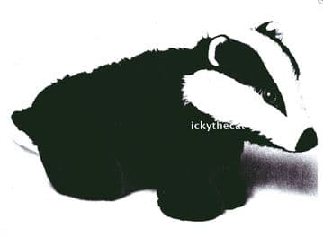 PDF Digital Download Vintage Sewing Pattern Badger 14 x 8'' Stuffed Plush Soft Body Toy Animal