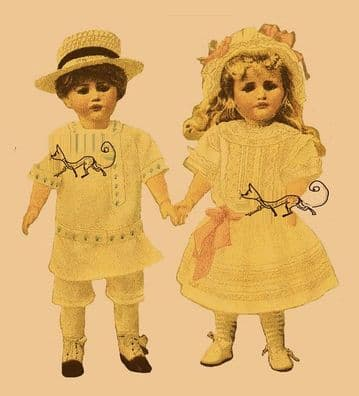 PDF Digital Download ​​​​​​​Vintage Sewing Pattern  Boy and Girl Clothes or Outfits for Bluette