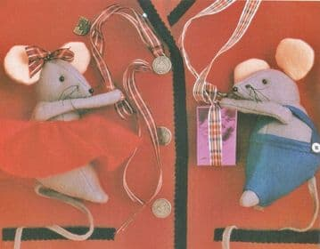 PDF Digital Download Vintage Sewing Pattern Boy Girl Mouse Mice Stuffed Soft Animal Toy
