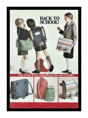 PDF Digital Download Vintage Sewing Pattern Children's Childs School Bag, Satchels, Gym Bags