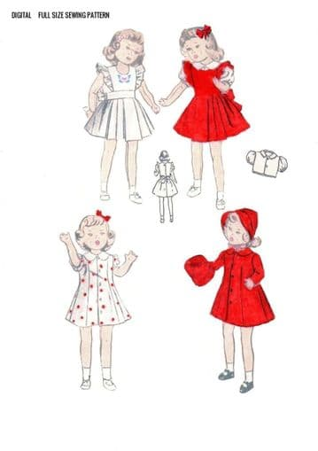 PDF Digital Download Vintage Sewing Pattern Doll Clothes 18'' Doll Stuffed Soft Toy Toys Dolls