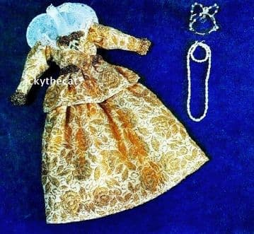 PDF Digital Download Vintage Sewing Pattern Doll Clothes Historical Elizabethan Gown Dress 12'' Doll