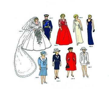 PDF Digital Download Vintage Sewing Pattern Doll Clothes  Princess Diana Collection Teenage Barbie