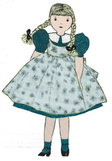 PDF Digital Download Vintage Sewing Pattern Edith Flack Ackley 13'' Girl Doll & Clothes Stuffed Soft